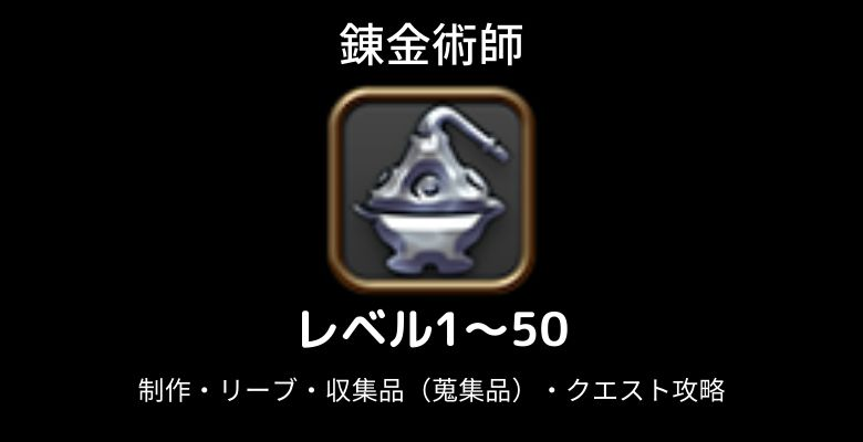 錬金術師レベル上げ1-50
