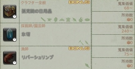 Bonus表示納品物