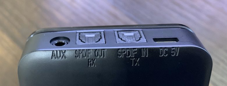 Bluetoothトランスミッター接続端子画像