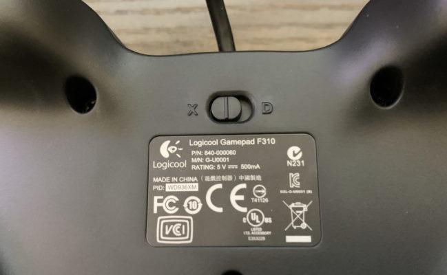 F310R背面ボタン画像