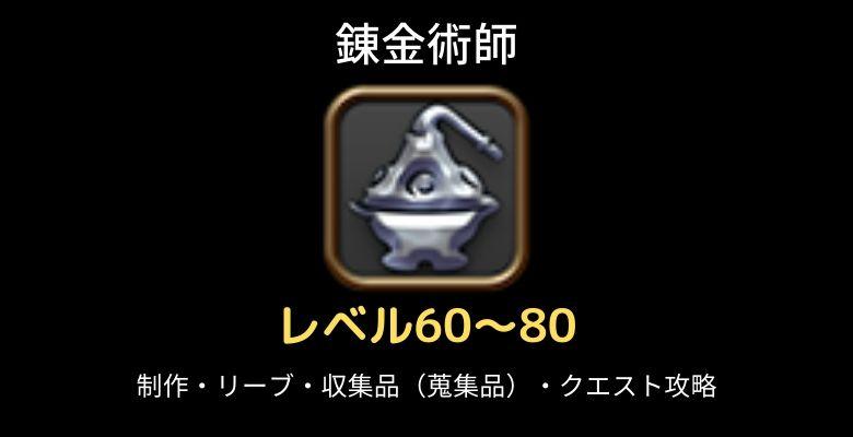 錬金術師レベル60-80